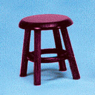 Dollhouse City - Dollhouse Miniatures Stool - Mahogany