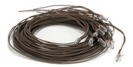 Small Round Bulb - Brown Wire