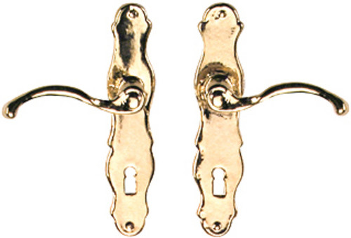 Dollhouse City - Dollhouse Miniatures French Door Handles Set - Brass