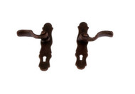 Dollhouse City - Dollhouse Miniatures French Door Handles Set - Bronze