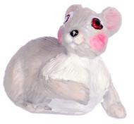 Dollhouse City - Dollhouse Miniatures Rabbit - Gray