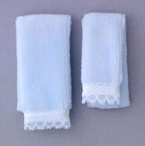 Dollhouse City - Dollhouse Miniatures Bath Towel Set - Blue