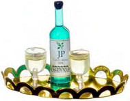 White Wine with Glasses - Tray