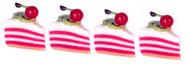 Dollhouse City - Dollhouse Miniatures Strawberry Sliced Cake Set