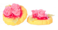 Dollhouse City - Dollhouse Miniatures Lemon Cookie with Flower Candy