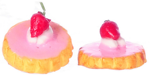 Dollhouse City - Dollhouse Miniatures Cookie with Strawberry Frost