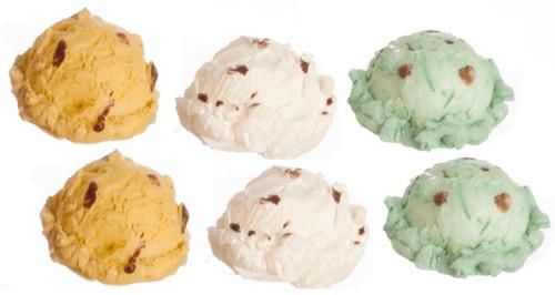 Dollhouse City - Dollhouse Miniatures Ice Cream Set - Assorted