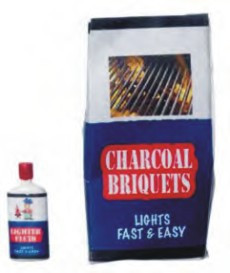 Charcoal Briquets with Light