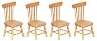 Dollhouse City - Dollhouse Miniatures Kicthen Chair - Oak