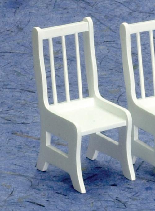 Dollhouse City - Dollhouse Miniatures Kitchen Chair - White