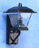Black Coach Lamp - Non-Working