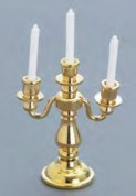 3-Arm Brass Candleabra