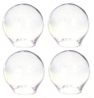 Clear Glass Globes Set