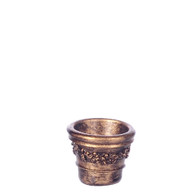 Dollhouse City - Dollhouse Miniatures Victorian Pot Set - Small and Gold