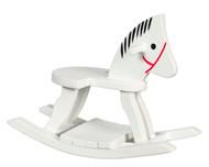 Dollhouse City - Dollhouse Miniatures Rocking Horse - White