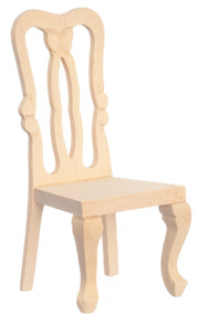 Dollhouse City - Dollhouse Miniatures Side Chair - Unfinished