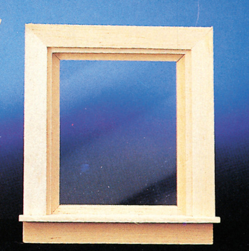 Dollhouse City - Dollhouse Miniatures Traditional Single Light Window