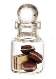 Glass Jar, Wafers and Cookies