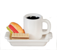 Hot Dog, Coffee and Wafer Platter