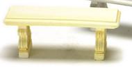 Dollhouse City - Dollhouse Miniatures Stone Bench - Ivory