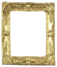 Dollhouse City - Dollhouse Miniatures Small Rectangular Frame - Gold