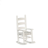 Dollhouse City - Dollhouse Miniatures Rocker - White