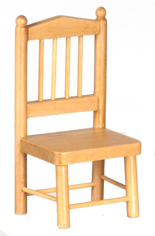 Dollhouse City - Dollhouse Miniatures Chair - Oak