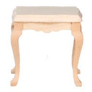 Dollhouse City - Dollhouse Miniatures Side Table - Unfinished