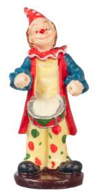 Dollhouse City - Dollhouse Miniatures Clown Drummer