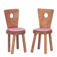 2 Cute Chairs - Walnut