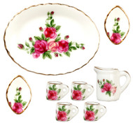 Mugs and Plates Set - Red Rose