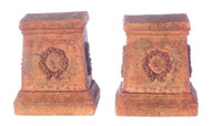 Dollhouse City - Dollhouse Miniatures Wreath Pedestal Set - Aged