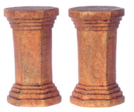 Dollhouse City - Dollhouse Miniatures Hexagon Pedestal Set - Aged