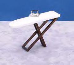 Folding Ironing Board with Iron - Walnut