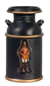 Milk Can - Black with Decal