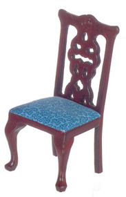 Side Chair - Mahogany - Green