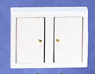 Dollhouse City - Dollhouse Miniatures Kitchen Wall Cabinet - White
