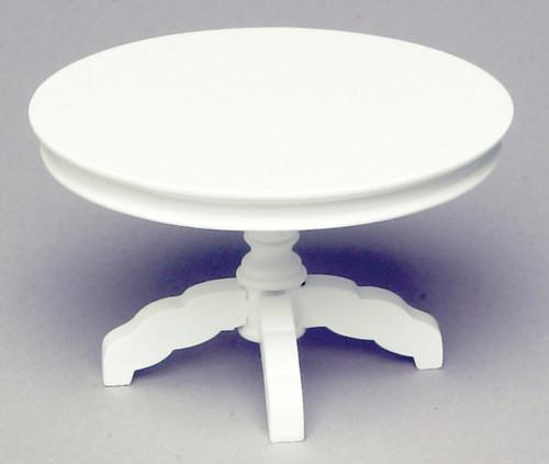 Dollhouse City - Dollhouse Miniatures Round Table - White