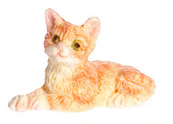 Dollhouse City - Dollhouse Miniatures Kitten - Orange