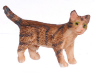 Dollhouse City - Dollhouse Miniatures Kitten Turning Right - Brown