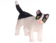Dollhouse City - Dollhouse Miniatures Kitten Turning Right - Black and White