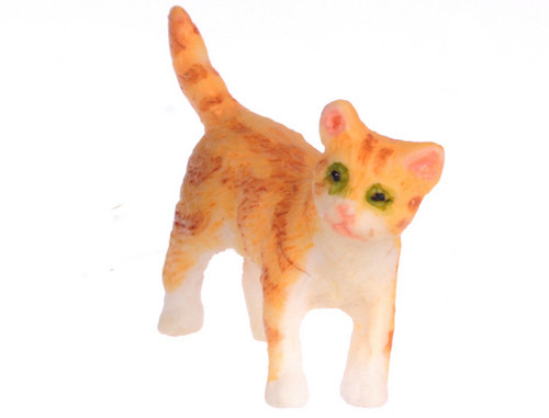 Dollhouse City - Dollhouse Miniatures Kitten Turning Right - Orange
