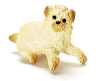 Dollhouse City - Dollhouse Miniatures Sitting Poodle - Blonde