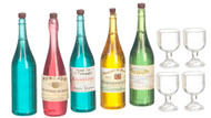 Wine Bottles with Glasses
