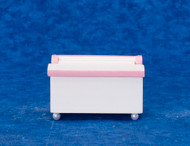 Dollhouse City - Dollhouse Miniatures Toychest - White and Pink