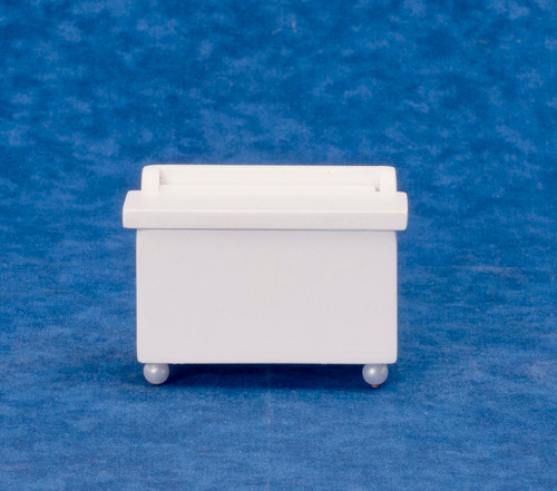 Dollhouse City - Dollhouse Miniatures Toy Chest - White