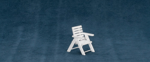 Dollhouse City - Dollhouse Miniatures Outdoor Chair - White