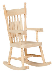 Dollhouse City - Dollhouse Miniatures Rocking Chair - Unfinished