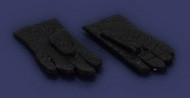 Dollhouse City - Dollhouse Miniatures 1 Pair of Gloves - Black