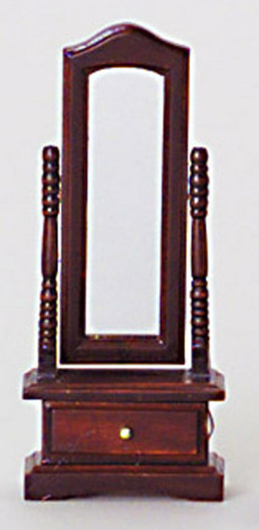 Standing Mirror - Mahogany